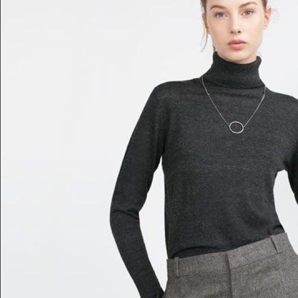 a7ddffa6 Zara Sweaters | Nwt Gray Turtleneck Sweater Top | Poshmark